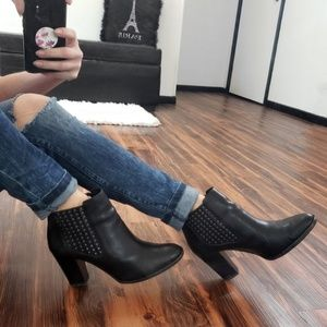 Antonio Melani Eadie Black Studded Leather Boots